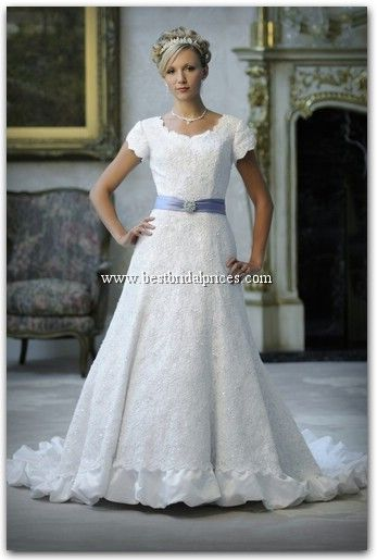 This Is Very Regal Looking I Love The Ruffle At The Bottom The - Lds Wedding Dress