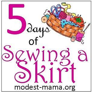 5 Days of Sewing a Skirt Blog Hop #homeschool #hsreviews #sewing