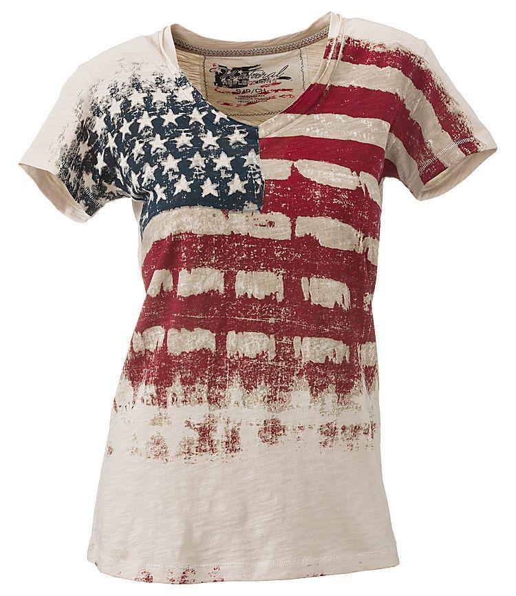 Natural Reflections® Vintage Flag T-Shirt for Ladies - Short Sleeve | Bass  Pro. Patriotic ShirtsPatriotic ...