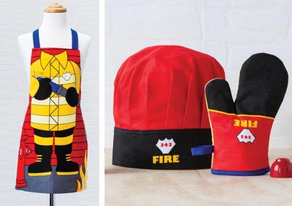 Zestaw Malego Kucharza Ladelle Strazak Sklep Internetowy Kids Apron Chefs Hat Fireman