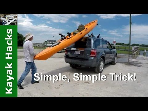 Photo of Easy one person method to load kayak on SUV without scratching