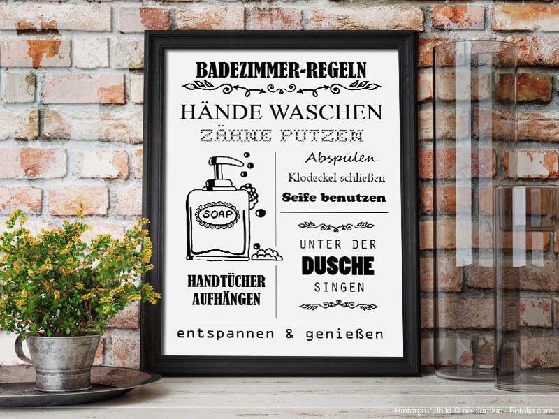 Badezimmer Regeln German Illustration Zum Selbstdrucken Bathroom Decor Bathroom Print Printable Ink Art Instant Download Badezimmer Regeln Wanddeko Badezimmer