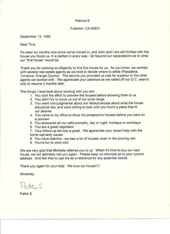 Tina Maraj Max North Orange County Real Estate Tinamaraj Sample Thank You Letter Agent Broker Download