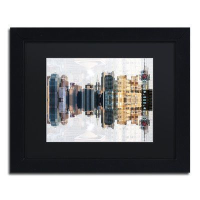 Trademark Art 'New York Reflection IV' by Philippe Hugonnard Framed Photographic Print Size: 1