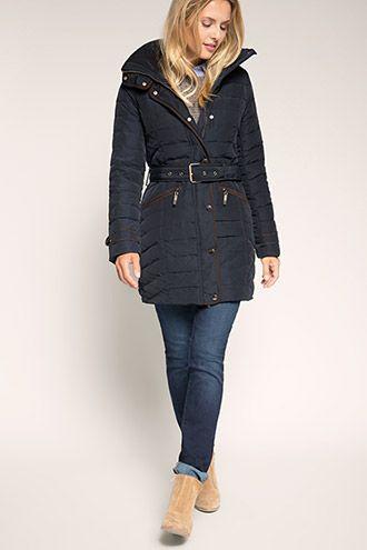 502035a5 Esprit - Dynefrakke med dun og fjer i Esprits Online-Shop | Clothes ...