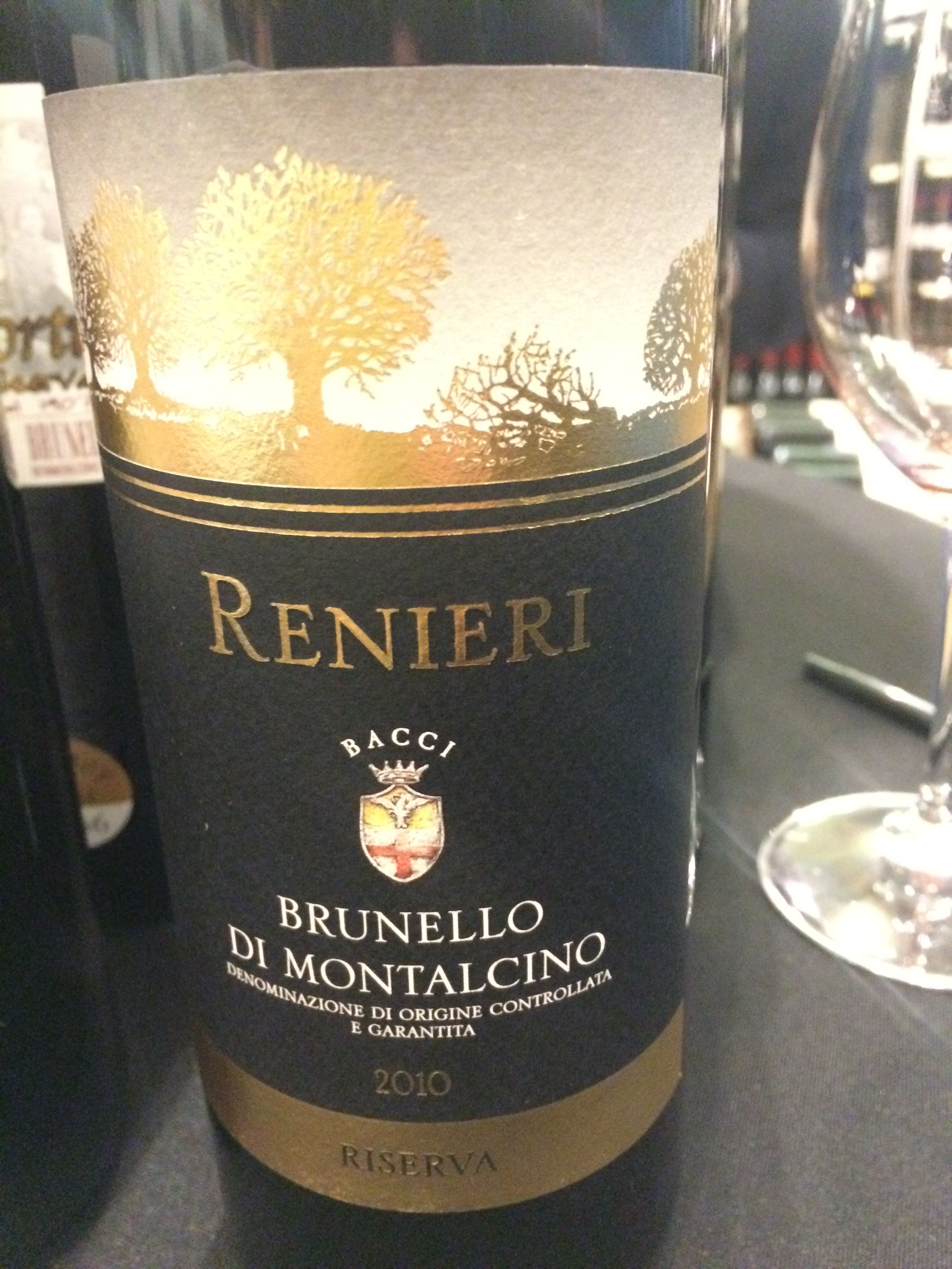 Renieri Brunello Reserva 2010 = probably one of the best Italian wines I've ever had - truly  perfect & flawless interpretation   Received 100 by James Suckling & deserves it  Sold at Zachys store in Scardsdale NY