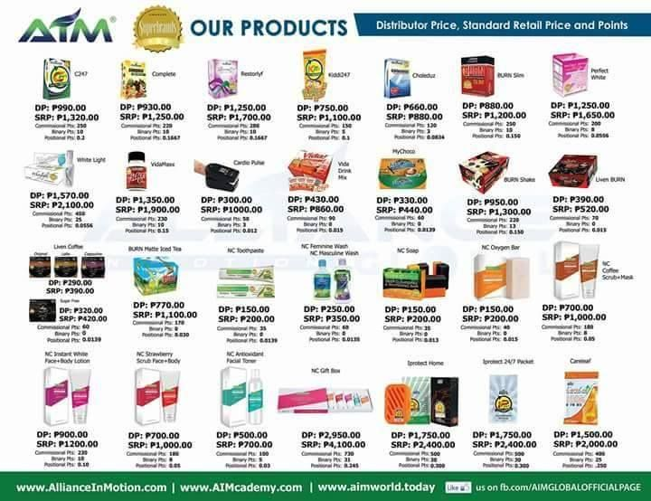 Image result for AIM GLOBAL Product Price List