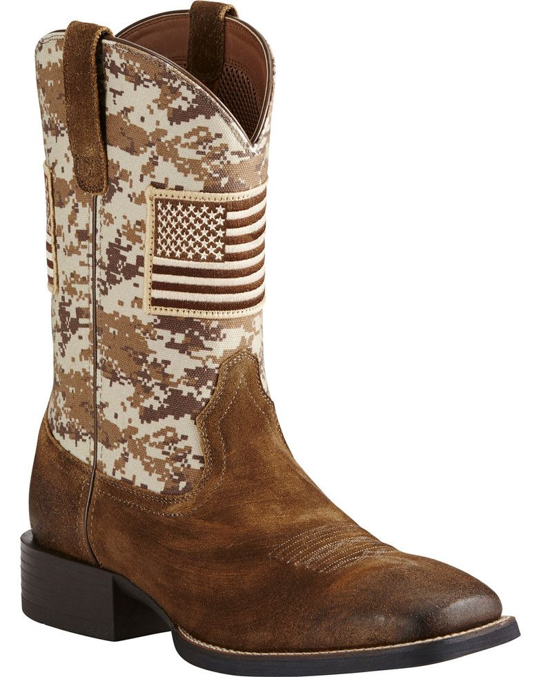 843b2dfcab740 Ariat Men's Sport Patriot Western Boots - Wide Square Toe | Shoes ...