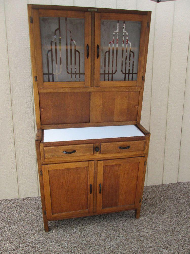 58429 Antique Neatette Furniture Deco Hoosier Cabinet Kitchen Cabinet Artdeco Cabinet Hoosier Cabinet Furniture