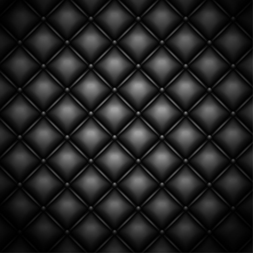 Black Quilted Leather Background