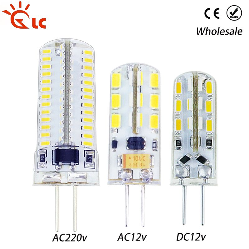 Lanchuang G4 Led 12v Ac 220v Smd3014 3w 5w 6w 7w 220v Replace 20w 30w 40w 70w Halogen Lamp 360 Beam Angle Led Bulb Lighting Power Strip