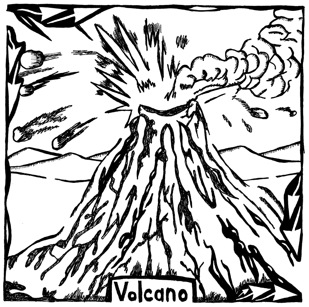 Colouring pages volcanoes - Free Coloring Pages Volcanoes Images About Volcano Art On Pinterest Maze Ancient Rome And Active