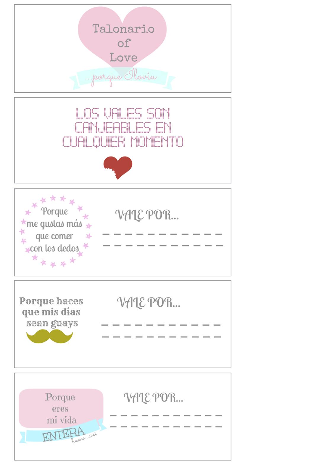 Cupones Dia De San Valentin Ideas Del Dia De San Valentin Cupones Para Novio Cupones Imprimibles Vales Para Parejas