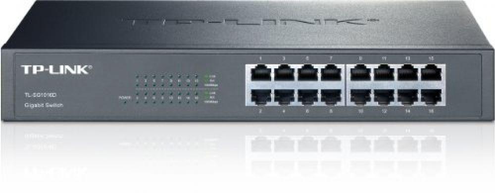Tp Link 16 Port Gigabit Ethernet Rackmount Switch Tl Sg1016d Tplink Tp Link Smart Switches Gigabit Switch