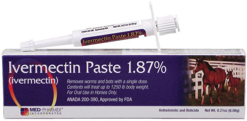 Ivermectin Paste Horse Wormer (1 87% Ivermectin) | Products