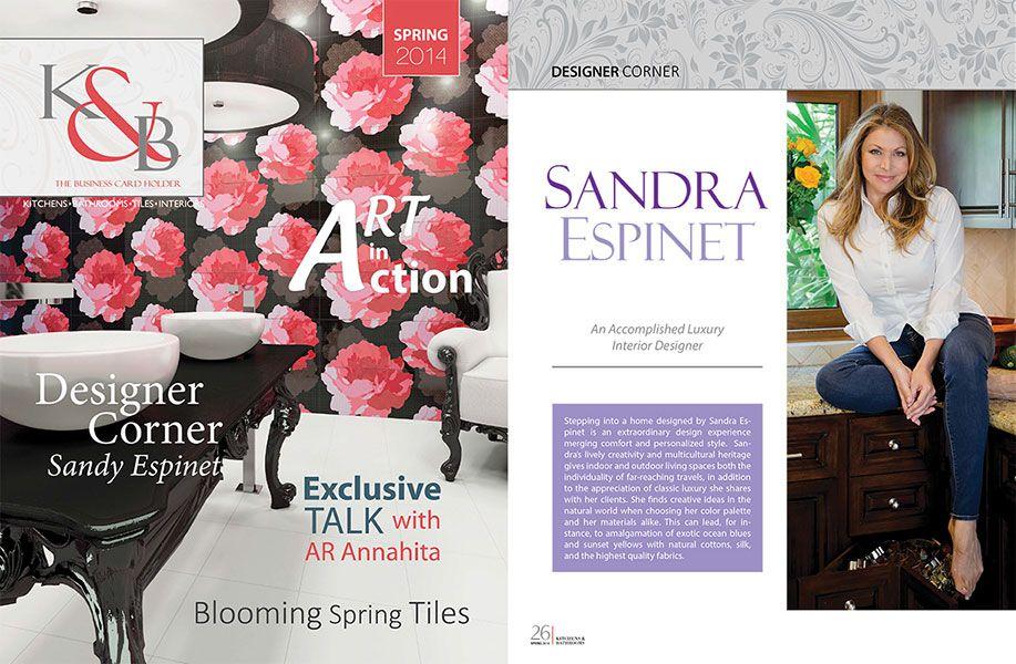 K & B Magazine | Spring 2014 Designer Corner: Sandra Espinet