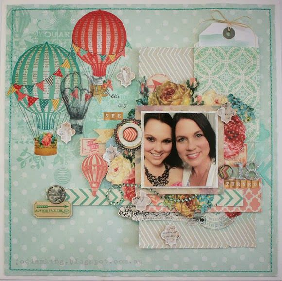 Sharing a layout today that was recently published in Scrapbooking Memories magazine.   This layout is one that's very close to my heart, an...