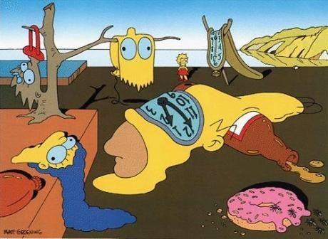 Des Tableaux De Maitres Detournes Facon Les Simpson Salvador Dali Les Arts Les Simpson