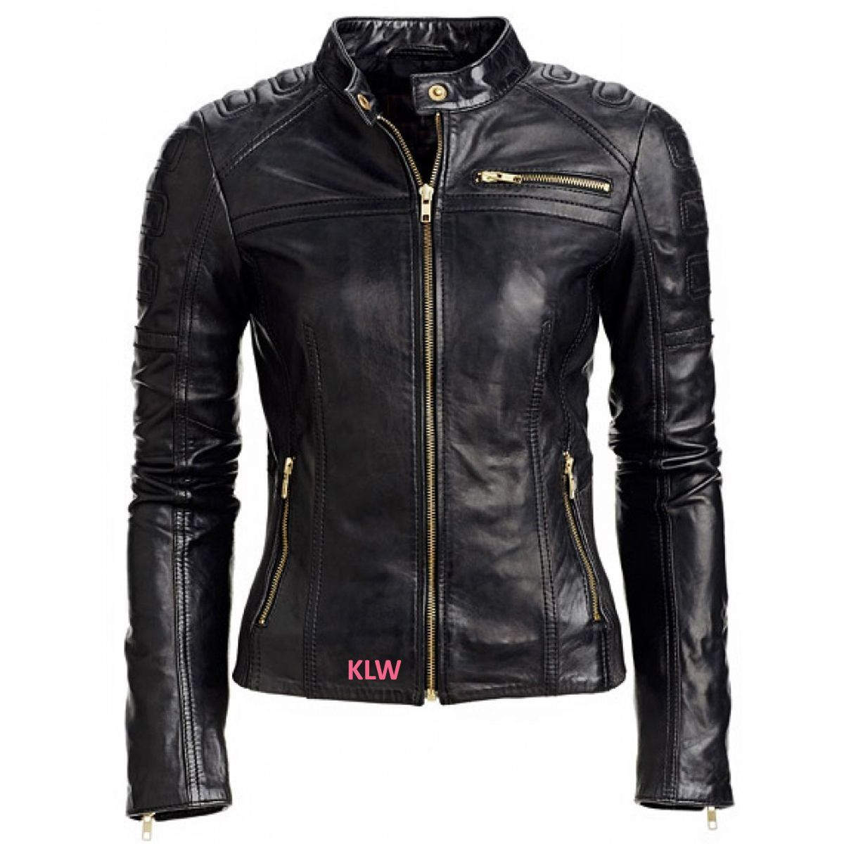 Leather Jacket Women Moto Style Quilted Soft Lambskin For Celebrity Ehs W-  03 b6c437829a0c0