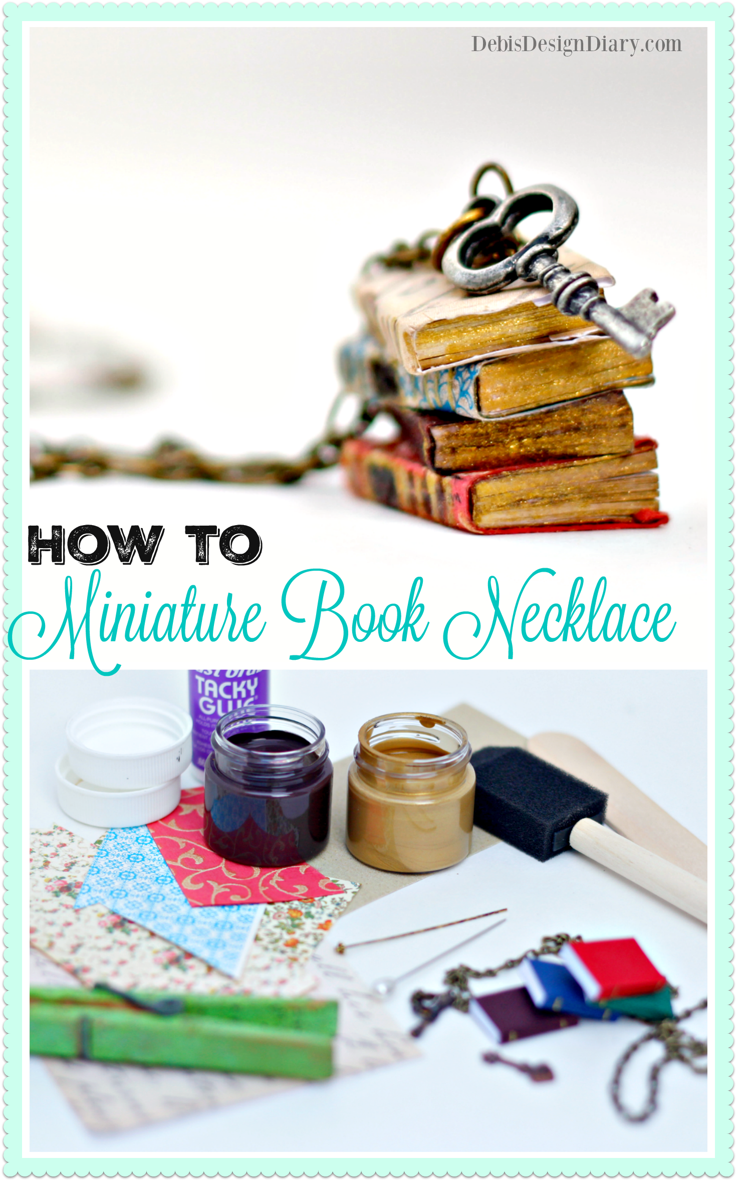 Diy Miniature Book Necklace Anthropologie Knock Off And Why I