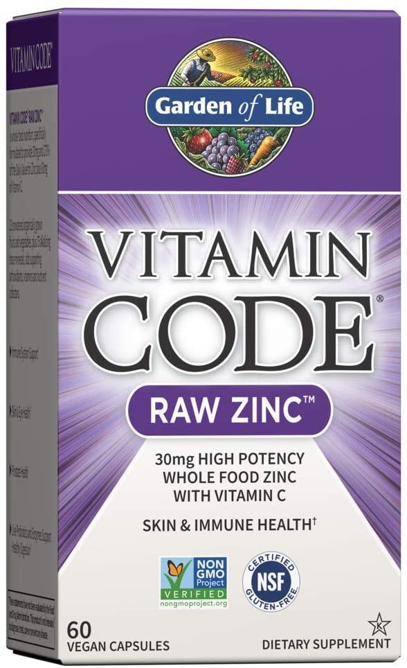 Amazon Com Garden Of Life Zinc Vitamin Vitamin Code Raw Zinc Whole Food Supplement With Vitamin C Veg Zinc Supplements Zinc Vitamin Garden Of Life Vitamins