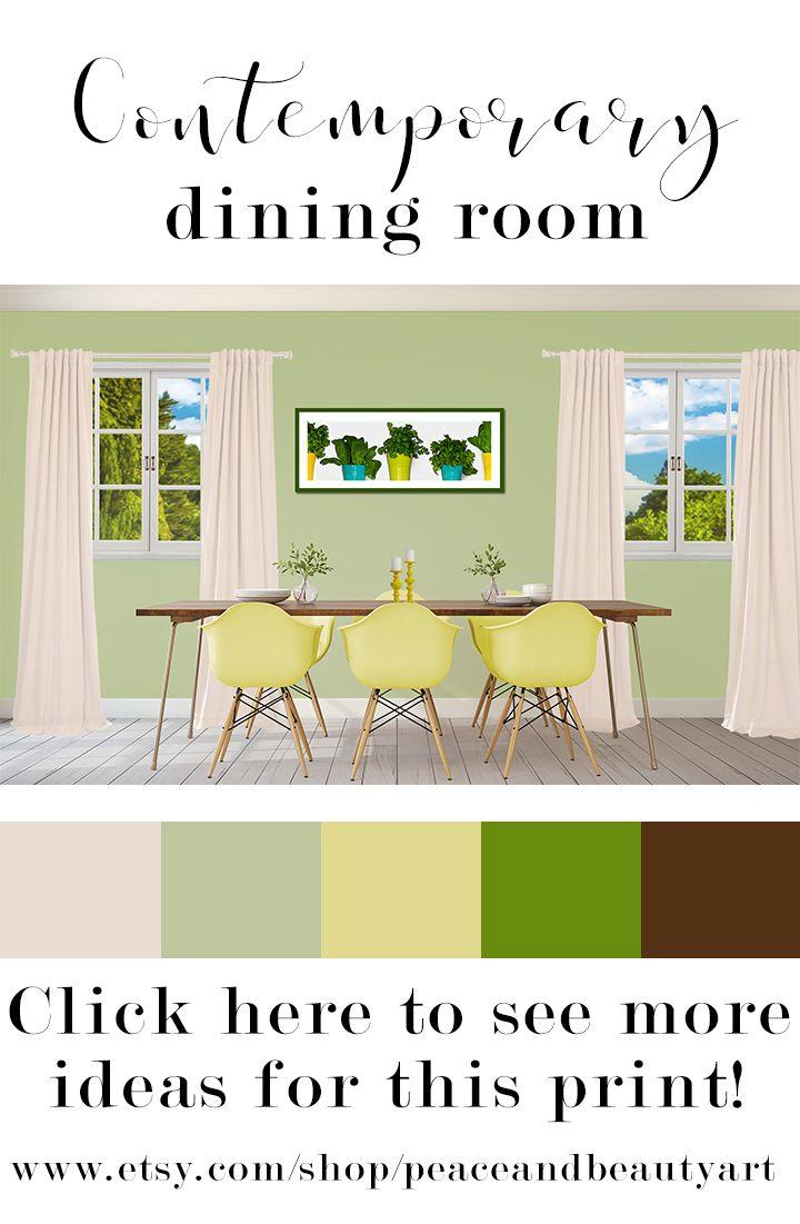 Minimalist Kitchen Art, Green Food Art, Green Vegetable Art, Food ...