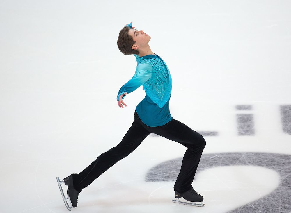 Roman Sadovsky CAN in the Men's Figure Skating Free Skating during the Winter Youth Olympic Games, Lillehammer Norway, 15 February 2016. Photo: Jed Leicester for YIS/IOC  Handout image supplied by YIS/IOC