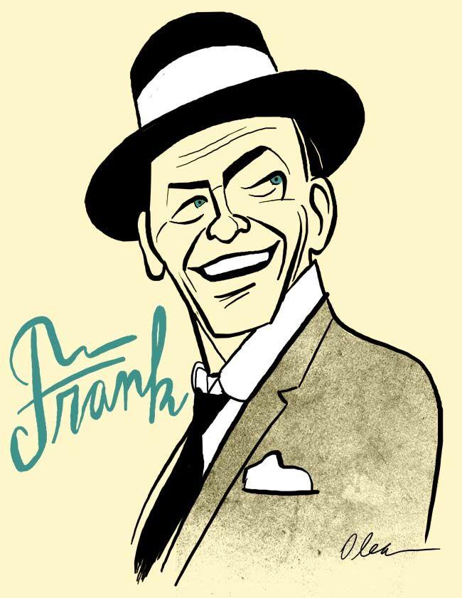 Frank Sinatra Singer By Francisco Javier Olea Frank Sinatra Art Frank Sinatra Caricature