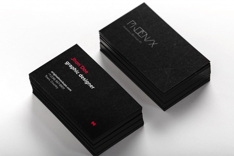 36d8f23b3a0 Black Business Cards Mockup 01 – Original Mockups