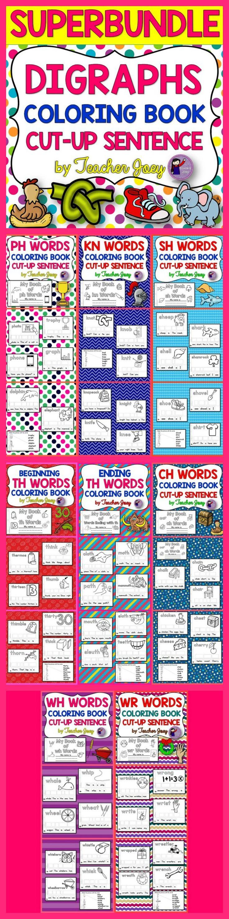 Worksheet Alphabet Sentence coloring books sentences and images words on pinterest