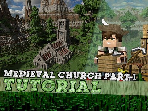 Minecraft tutorial medieval church part 12 youtube minecraft tutorial medieval church part 12 youtube malvernweather Choice Image