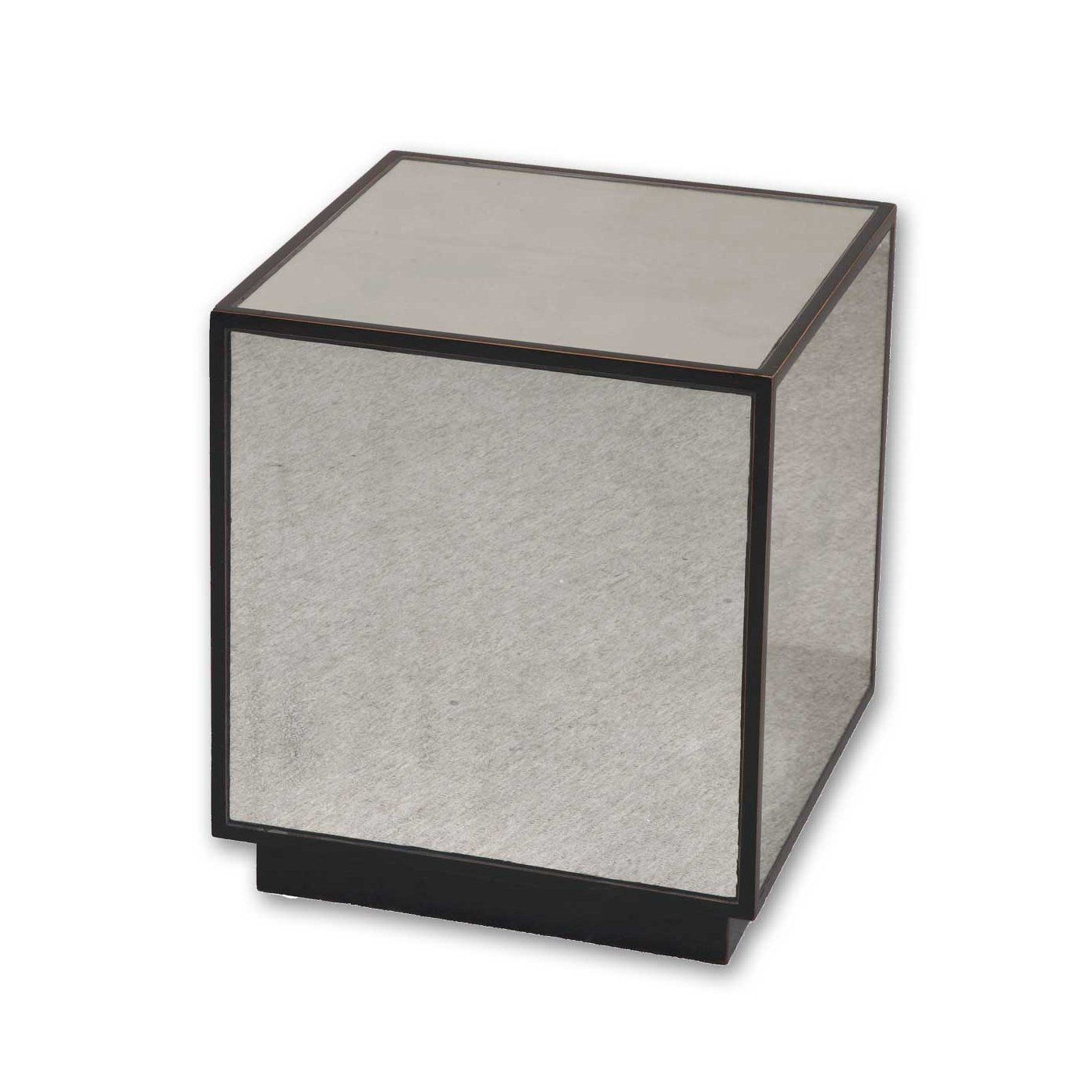 Front living room?     Uttermost 24091 Matty Mirrored Cube End Table