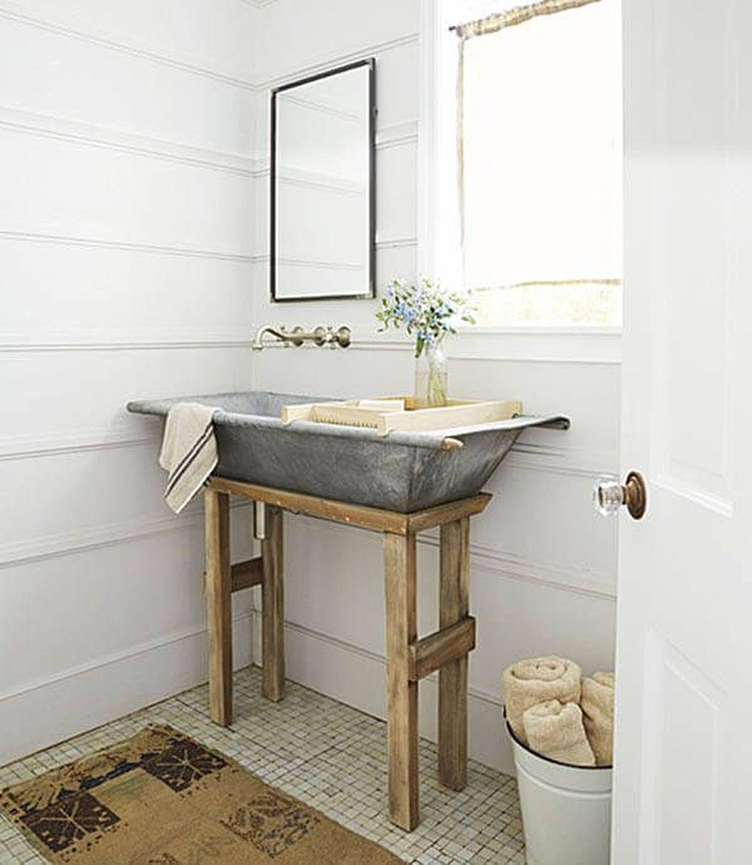 Sink Bathroom Bath Zinc Laundry Basin Tub Baby Bath Wash Stand