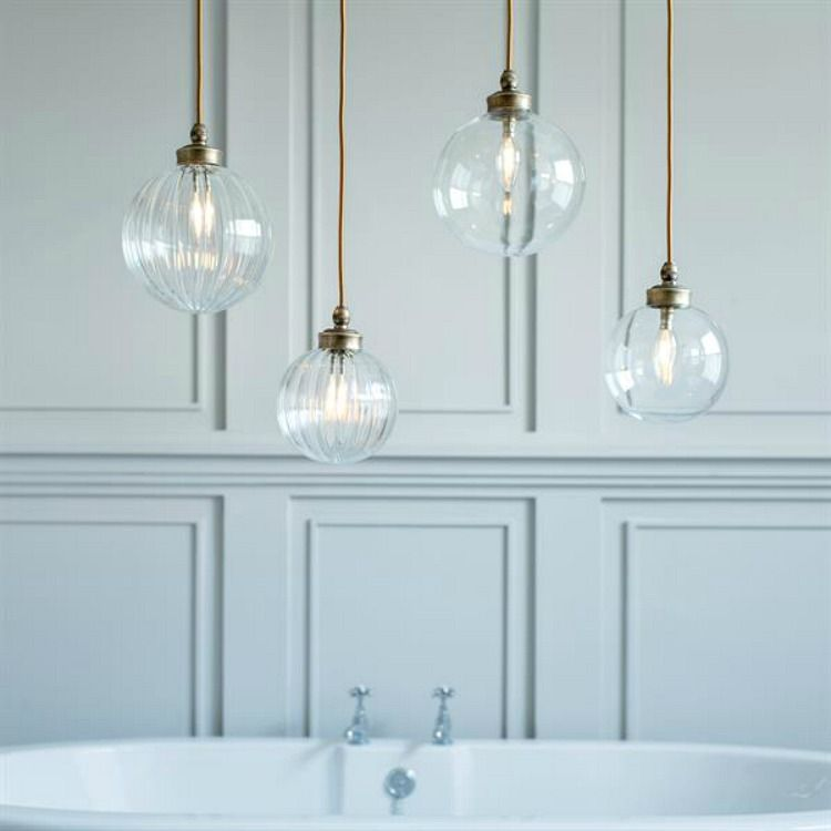 A Beautiful Bathroom Pendant Light, With Elegant Styling Combined With A  Beautiful Spherical Fluted Glass Shade. A Gorgeous Light Suiting Both  Period And ... Amazing Ideas