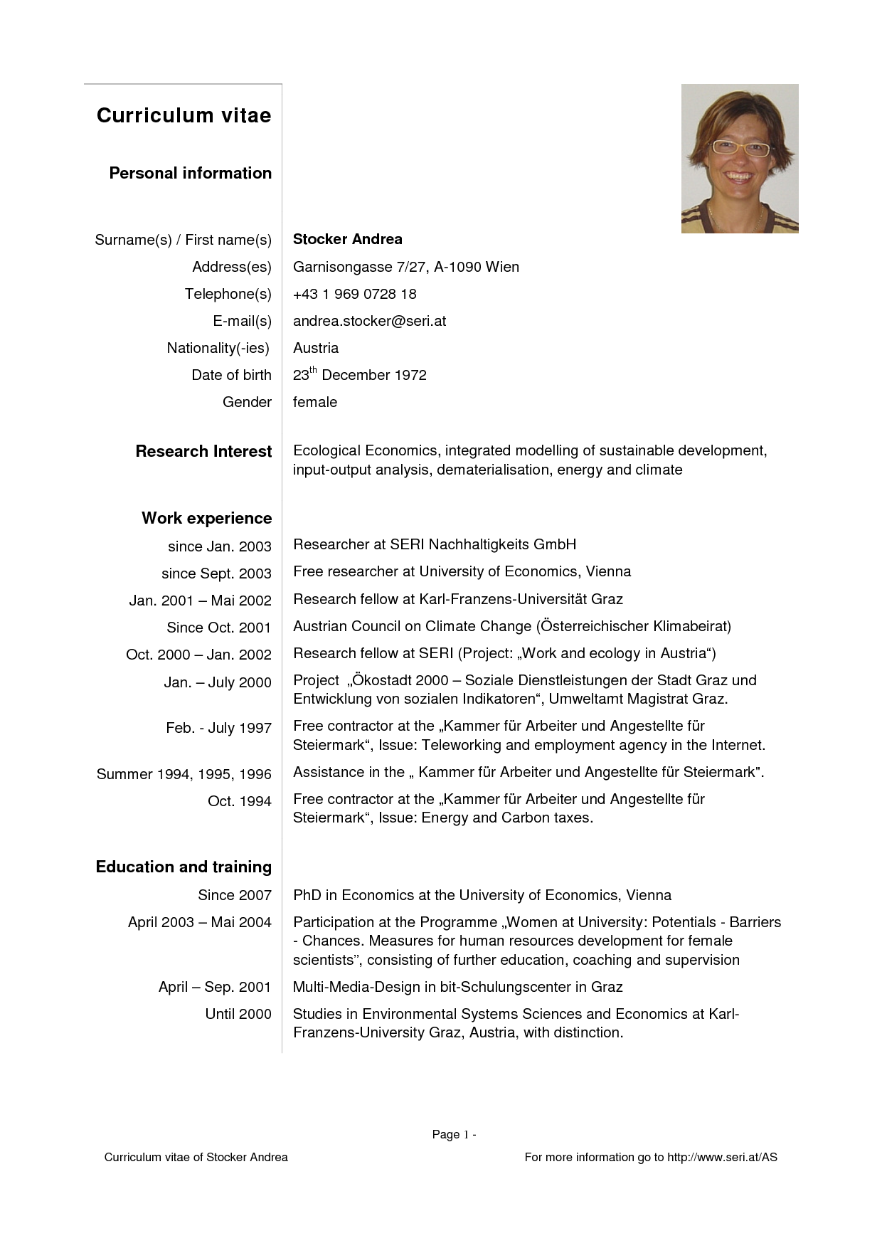 Template For Curriculum Vitae Curriculumvitaesamplespdftemplate2016Pcfbcrlg 1240×1754
