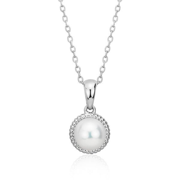 Blue Nile Freshwater Cultured Pearl Roped Pendant (77 AUD) ❤ liked on Polyvore featuring jewelry, pendants, blue nile, cultured pearl pendant, freshwater pearl pendant, cultured pearl jewelry and freshwater pearl jewelry