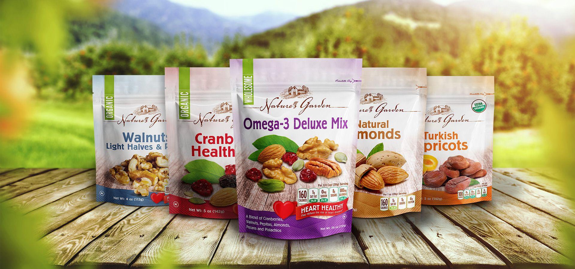 Naturesgarden Organic Nuts Trail Mix Snack Fruit