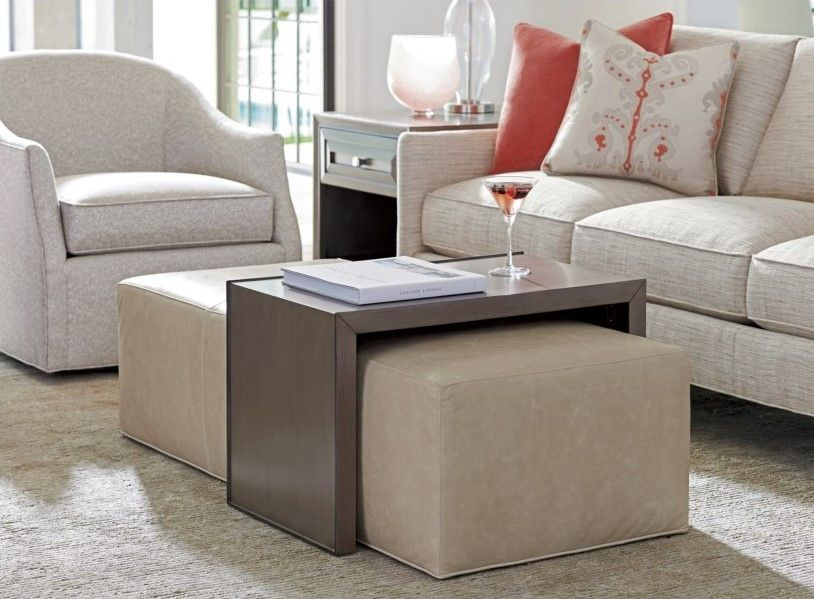 Awe Inspiring Ariana Savona Cocktail Ottoman With Sliding Wood Tray By Pabps2019 Chair Design Images Pabps2019Com