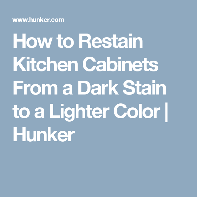 How to Restain Kitchen Cabinets From a Dark Stain to a ...