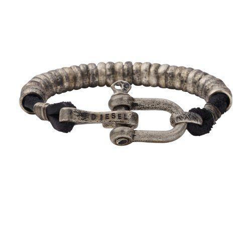 silver-toned hardware bracelet - Black Diesel dT7KY