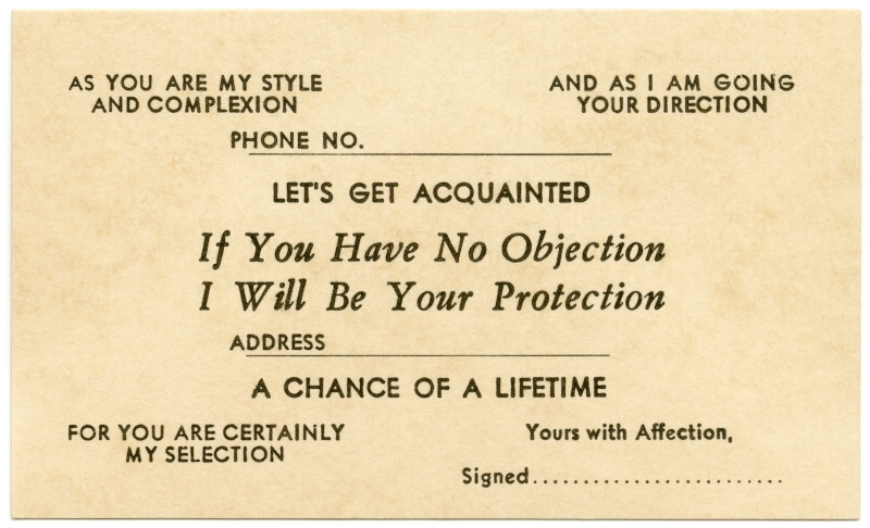 Ice-breaking Acquaintance Cards From The 1870s and 1880s