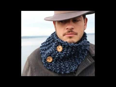 bufanda o cuello de hombre en ganchillo o crochet - YouTube | mens ...