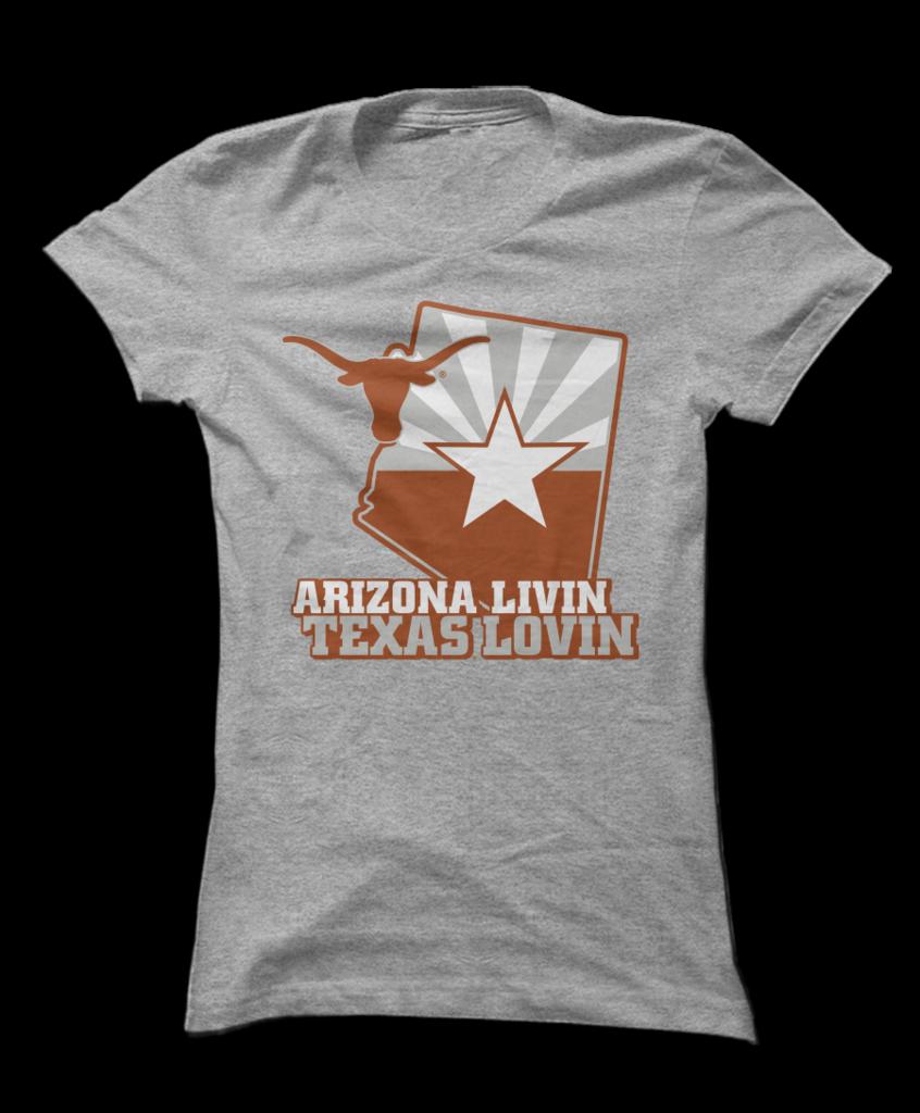 Texas Longhorns Arizona Flag W Logo Arizona Flag Texas Longhorns Mens Tops [ 1024 x 846 Pixel ]