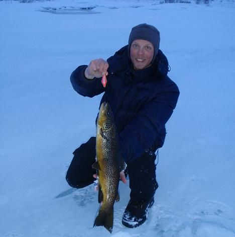 Winter Trout fishing in Finland