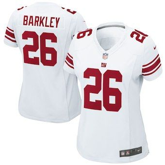 f6dbf418d LADIES WEARING APPAREL Saquon Barkley New York Giants Nike Women s 2018 NFL  Draft Pick Game Jersey – White
