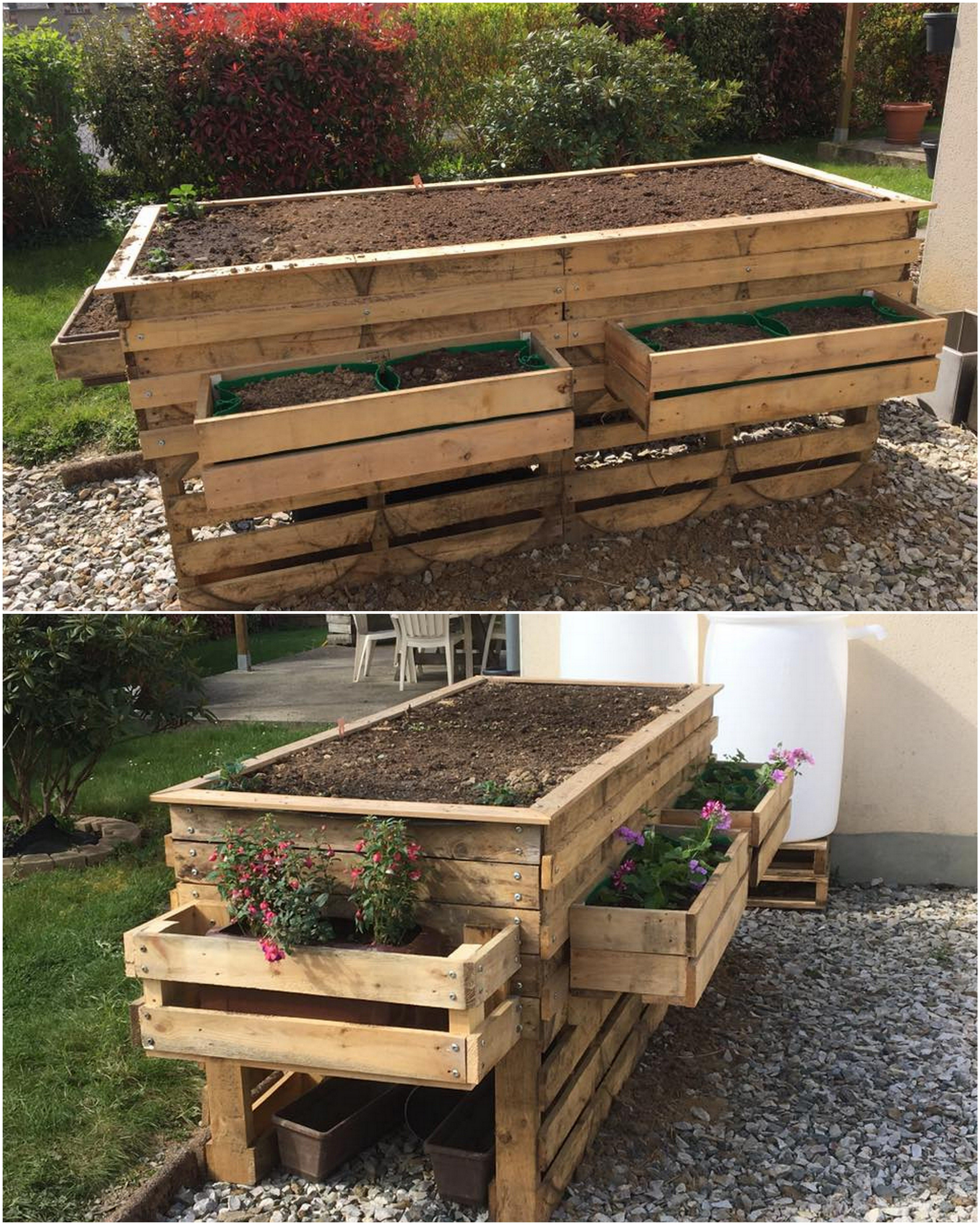 Awesome Diy Recycled Wood Pallet Garden