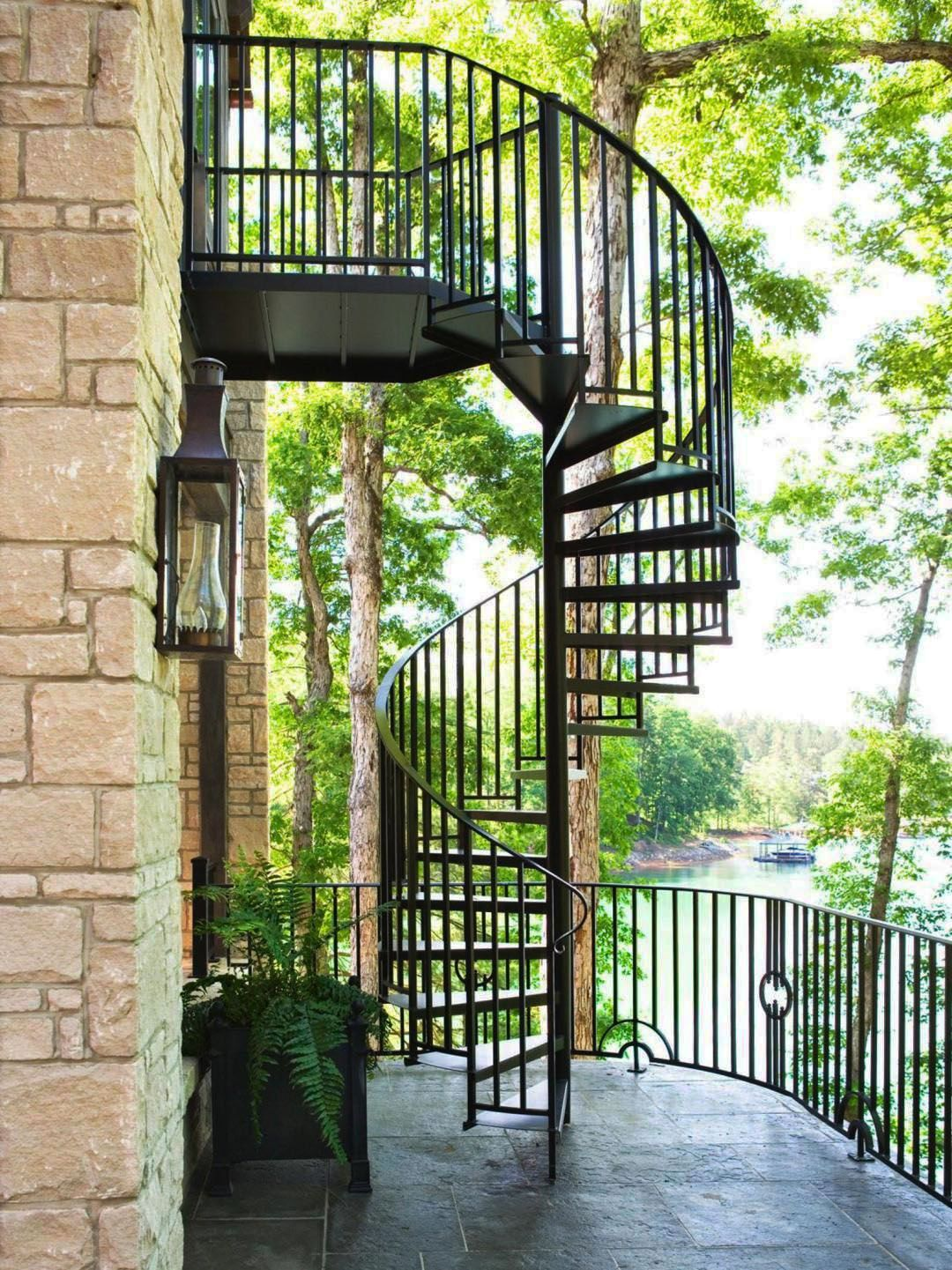 Best 13 Spiral Staircase Design Ideas For Small Spaces Exterior Stairs Outdoor Stairs Staircase 400 x 300