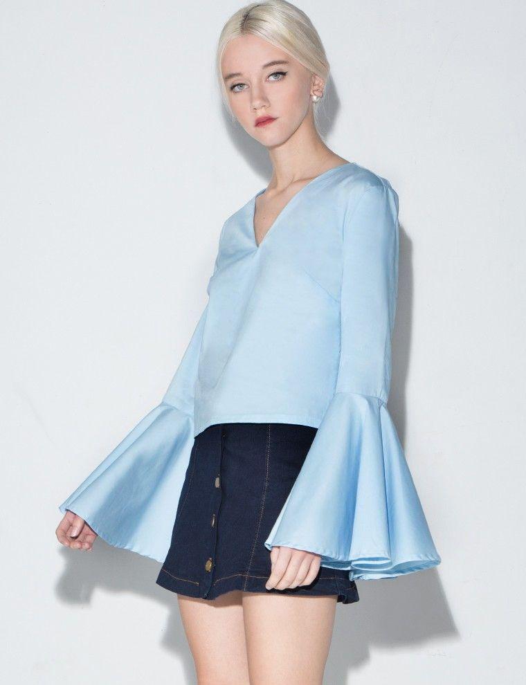 Bell Sleeve Shirt #fashion #trend #pixiemarket