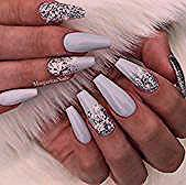 43 Beautiful Nail Art Designs for Coffin Nails