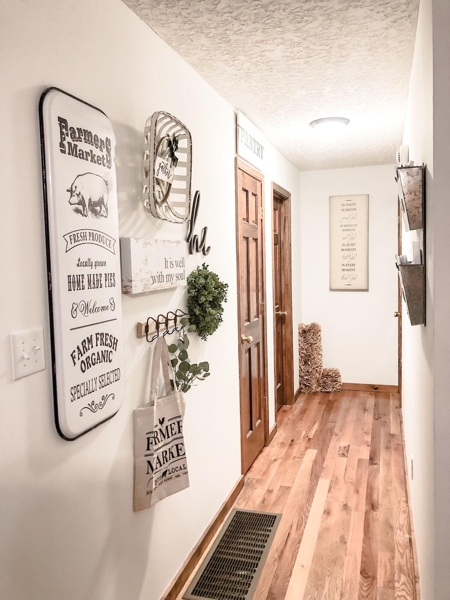 34+ Farmhouse hallway decor ideas trends